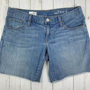 Gap 26 2 Boyfriend Shorts Light Wash Denim Cut Off